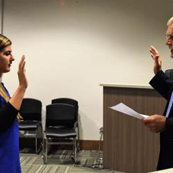 Covington swears in new officer