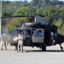 When a Blackhawk came to town …