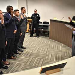 Covington swears in 5 police recruits