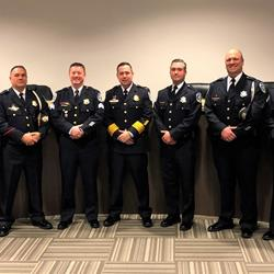 Six police officers move up the ranks