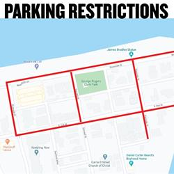Parking restricted near GRC Park, Riverside Drive