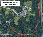Devou Drive closed until Friday