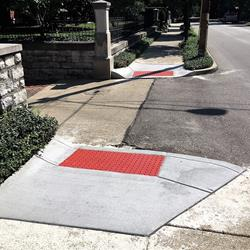 More sidewalks, curbs made ADA compliant