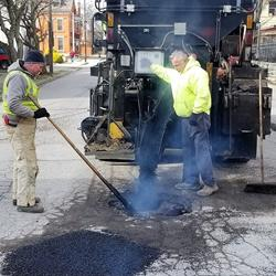 City to fill potholes, clear snow on state routes