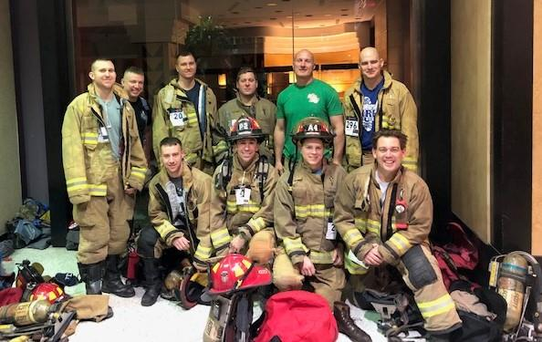 Covington firefighters = stair masters